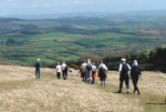 a group of walkers on open moorland